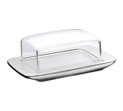 BUTTERDOSE Metall, Kunststoff, Glas - Klar/Edelstahlfarben, Basics, Glas/Kunststoff (9/18cm) - WMF