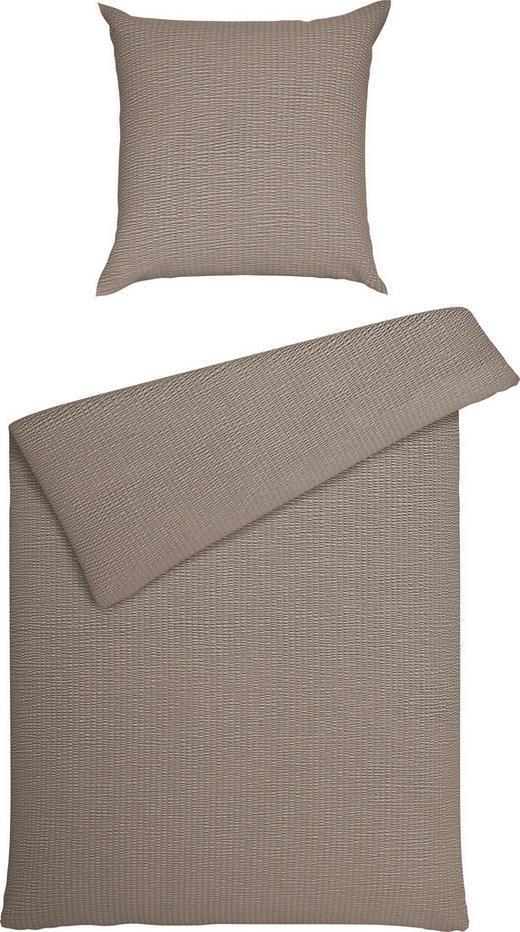 BETTWÄSCHE Seersucker Taupe 135/200 cm - Taupe, Basics, Textil (135/200cm) - JANINE