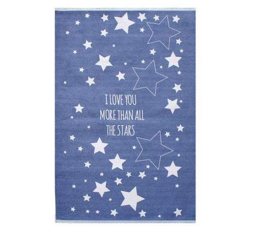 KINDERTEPPICH  100/160 cm  Blau, Weiß   - Blau/Weiß, Basics, Textil (100/160cm)