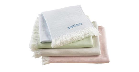 WOHNDECKE 130/170 cm  - Weiß/Mintgrün, KONVENTIONELL, Textil (130/170cm) - Ambiente