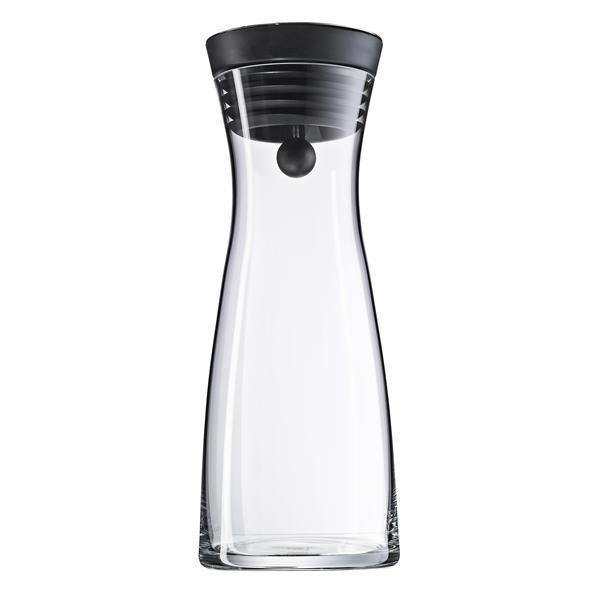 WASSERKARAFFE 0,75 l - Klar/Schwarz, Basics, Glas/Kunststoff (0,75cm) - WMF