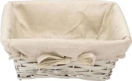 BROTKORB - Beige/Creme, Basics, Textil (25/25/10cm) - Landscape