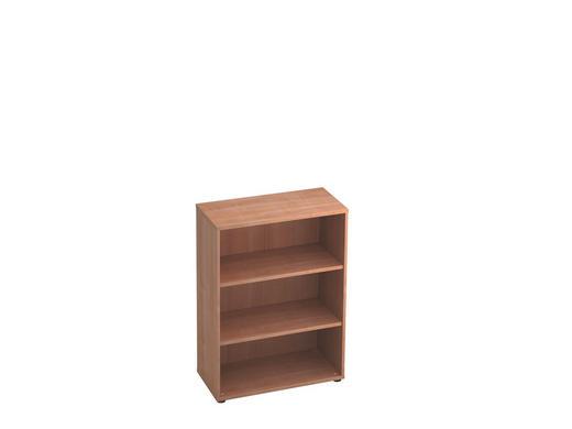 REGAL in Nussbaumfarben - Nussbaumfarben/Schwarz, KONVENTIONELL, Holzwerkstoff/Kunststoff (80/110/40cm)
