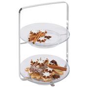ETAGERE - Klar/Silberfarben, Design, Glas/Metall (22/30,5/22cm) - Leonardo