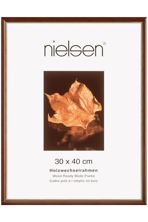 BILDERRAHMEN  Dunkelbraun, Goldfarben - Dunkelbraun/Goldfarben, Basics, Holz (30/40cm) - Nielsen
