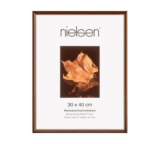 BILDERRAHMEN  Goldfarben, Dunkelbraun - Dunkelbraun/Goldfarben, Basics, Holz (13/18cm) - Nielsen
