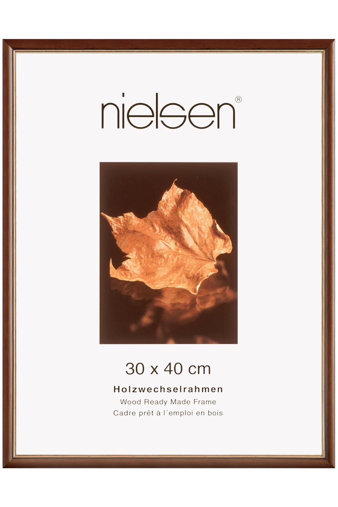 BILDERRAHMEN  Dunkelbraun, Goldfarben - Dunkelbraun/Goldfarben, Holz (21/29.7cm)