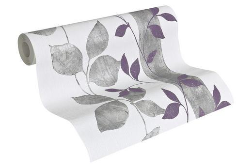 VLIESTAPETE 10,05 m - Beige/Violett, LIFESTYLE, Textil (53/1005cm)