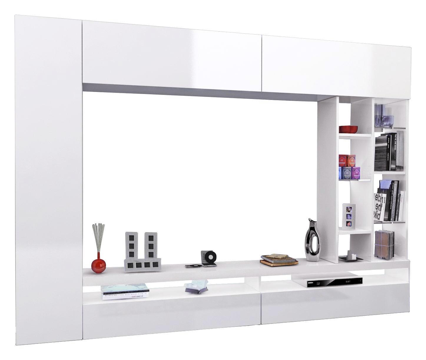 Schon WOHNWAND In Weiß   Weiß, Design, Glas/Holzwerkstoff (250/180/
