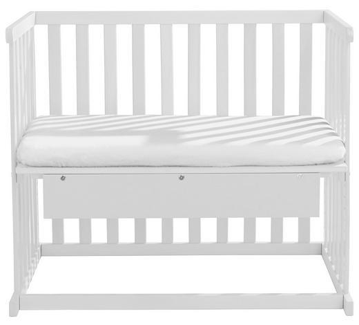 BEISTELLBETT Buche teilmassiv Weiß  - Weiß, Basics, Holz (94/78/53cm) - My Baby Lou