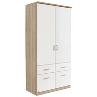 ORMAR S KLASIČNIM VRATIMA - bijela/boje hrasta, Design, drvni materijal/plastika (91/199/56cm) - Boxxx