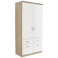 ORMAR S KLASIČNIM VRATIMA - boje aluminija, Design, drvni materijal/plastika (91/199/56cm) - Boxxx
