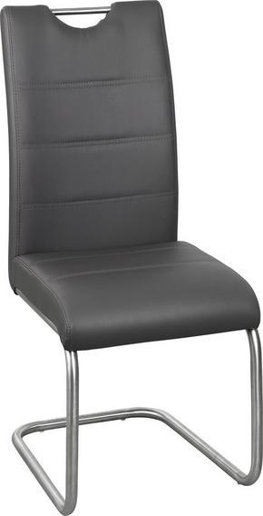 SVIKTSTOL - grå/rostfritt stål-färgad, Design, metall/textil (43/98/58cm) - Xora