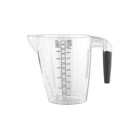 MESSBECHER - Klar/Schwarz, Basics, Kunststoff (1l) - Plast 1