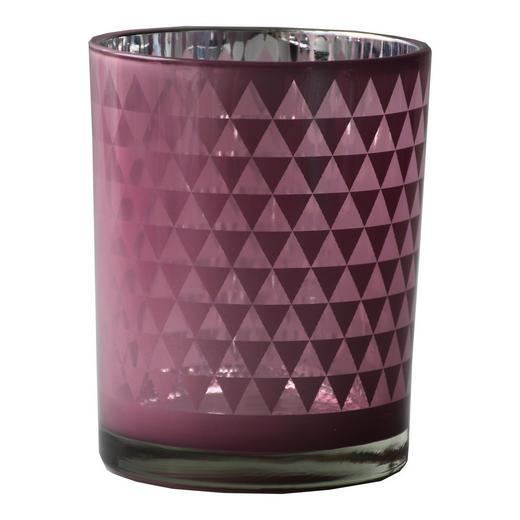 TEELICHTGLAS - Rosa, Design, Glas (10/12,5cm) - Ambia Home