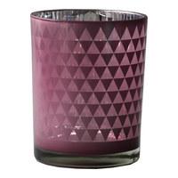 VÄRMELJUSGLAS - rosa, Design, glas (10/12,5cm) - Ambia Home