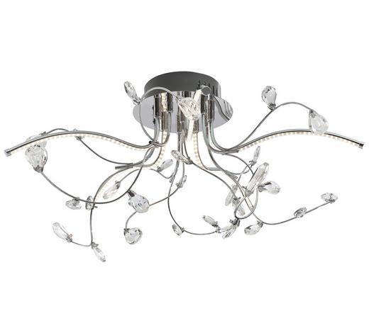 LED-DECKENLEUCHTE   - Transparent/Nickelfarben, Design, Kunststoff/Metall (54/30cm)