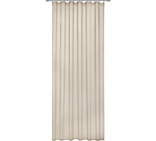 FERTIGVORHANG transparent - Beige, Design, Textil (135/255cm) - Novel