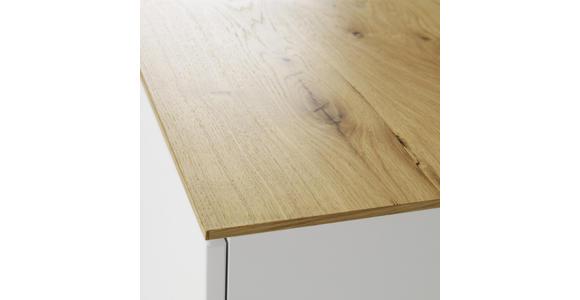 KOMMODE Eiche furniert Weiß, Eichefarben  - Eichefarben/Alufarben, Design, Holz/Holzwerkstoff (90/95/43cm) - Novel