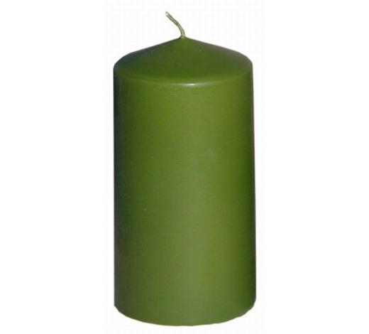SVÍČKA 15X8CM - světle zelená, Basics (7,7/15cm) - Steinhart