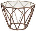 BEISTELLTISCH in Bronzefarben - Bronzefarben, Design, Glas/Metall (55/38/55cm)