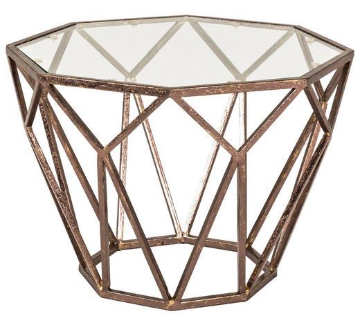 ODKLÁDACÍ STOLEK, bronzová - bronzová, Design, kov/sklo (55/55/38cm)