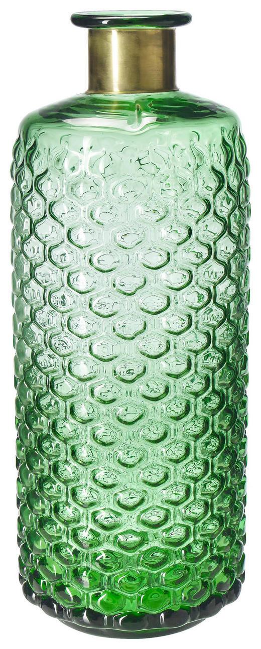 VASE 39 cm - Grün, Trend, Glas (15/39cm)