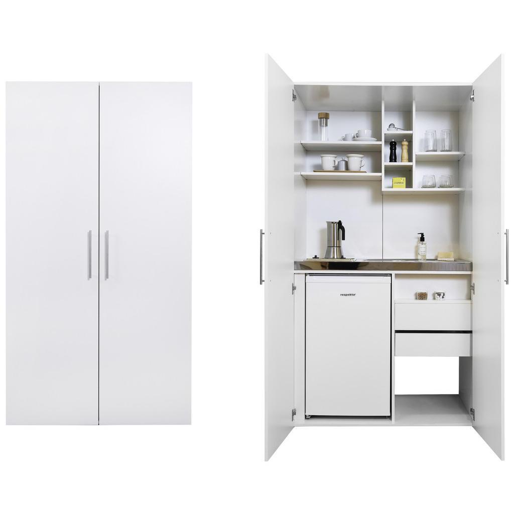 Respekta Schrankküche Schrankküche , Weiß , Metall , 1 Schubladen , 104 cm , Frontauswahl , Exklusive Online Möbel, Exklusive Online Küchen
