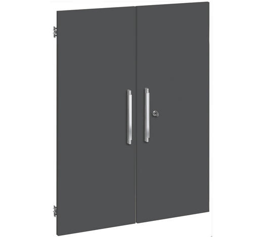 TÜR Grau  - Silberfarben/Grau, Design, Kunststoff (75,6/102,3cm)