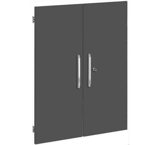 TÜR - Silberfarben/Grau, KONVENTIONELL, Holzwerkstoff/Kunststoff (75,6/102,3cm)