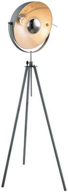 STEHLEUCHTE - Grau, Design, Metall (72/72/180cm)