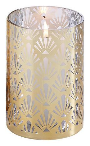 LJUSLYKTA - guldfärgad, Lifestyle, glas (15/30cm)
