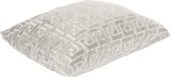 Zierkissen Mäander 48x48 cm - Weiß, KONVENTIONELL, Textil (48/48cm) - Ombra