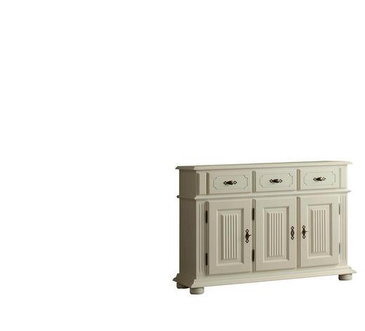 SIDEBOARD Fichte massiv Weiß - Messingfarben/Weiß, Design, Holz/Metall (121/85/40cm) - Landscape