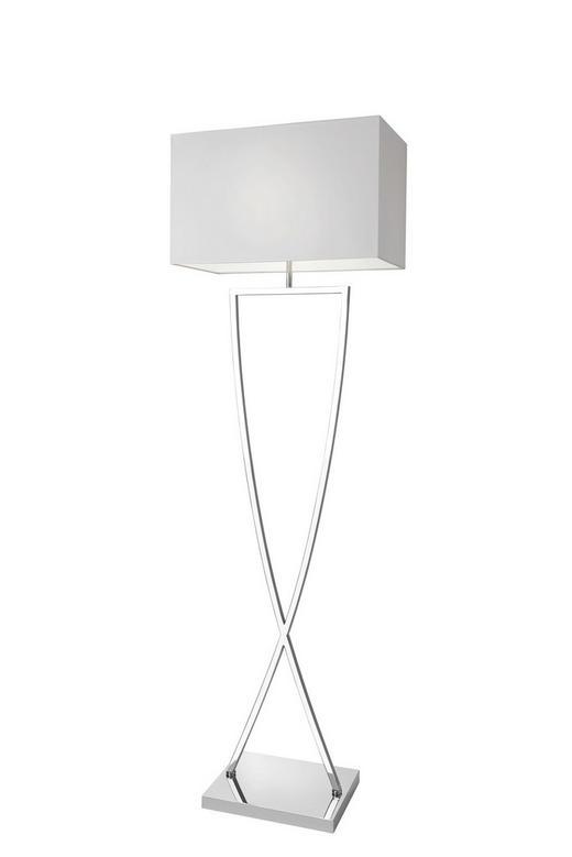 STEHLEUCHTE - Chromfarben/Weiß, Design, Textil/Metall (49,5/158/26cm) - Villeroy & Boch