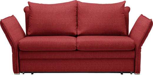 SCHLAFSOFA Rot - Chromfarben/Rot, KONVENTIONELL, Textil/Metall (213/88/91cm) - Novel
