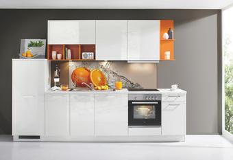 KUCHYŇSKÝ BLOK - bílá, Design, dřevěný materiál (315cm) - Dieter Knoll