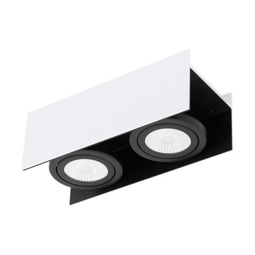 DECKENLEUCHTE - Schwarz/Weiß, Design, Metall (31/13/11cm)