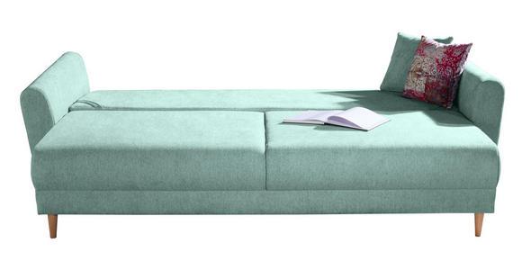 DREISITZER-SOFA in Textil Blau, Grün - Blau/Multicolor, Design, Holz/Textil (235/87/98cm) - Hom`in