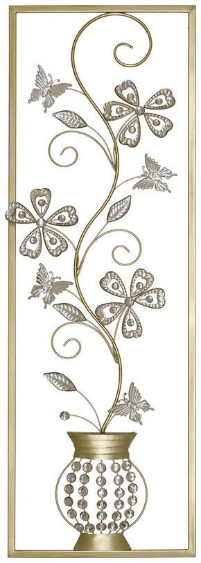 VÄGGDEKORATION - silver/guldfärgad, Klassisk, metall (33/99/3,5cm) - Ambia Home