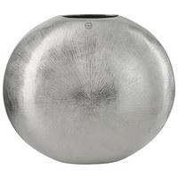 VASE 40 cm - Silberfarben, Design, Metall (51/24/40cm) - Ambia Home