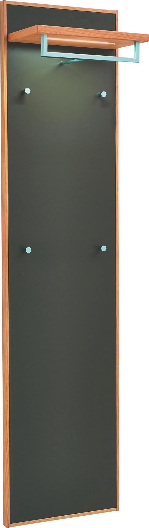 GARDEROBENPANEEL Eiche teilmassiv lackiert Dunkelbraun, Eichefarben - Eichefarben/Dunkelbraun, Design, Holz (44/183/29cm)