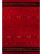 ORIENTALSKA PREPROGA  70/140 cm   rdeča  - rdeča, Basics, naravni materiali (70/140cm)