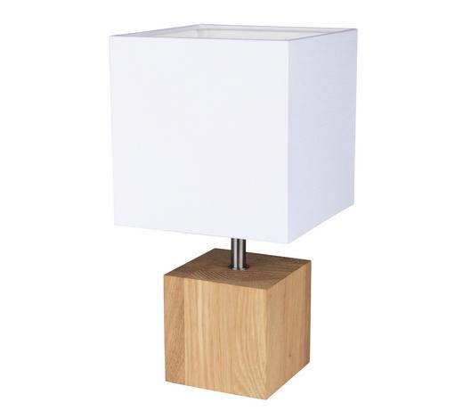 TISCHLEUCHTE - Weiß/Braun, Basics, Holz/Textil (15/30/15cm)
