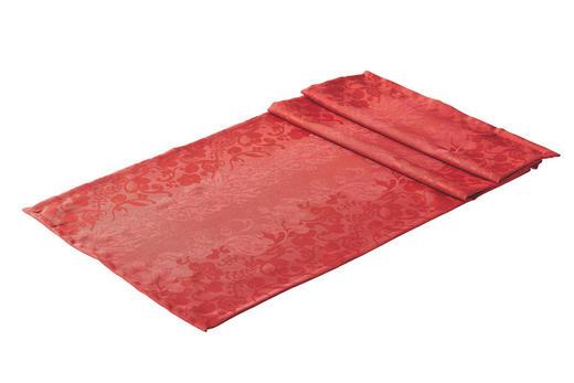 TISCHLÄUFER Textil Jacquard Rot 50/150 cm - Rot, Basics, Textil (50/150cm)