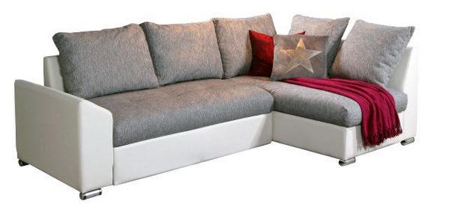 GARNITURA ZA DNEVNU SOBU - Boja aluminijuma/Siva, Dizajnerski, Tekstil/Drvo (240/150cm) - Xora
