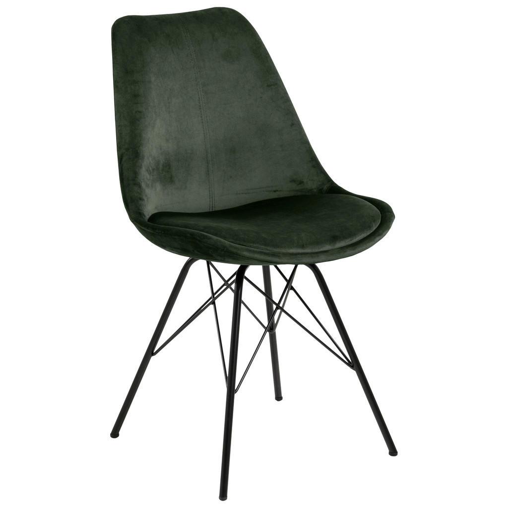 Carryhome Stuhl samt dunkelgrün