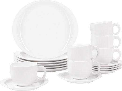 KAFFESERVIS - vit, Basics, keramik - NOVEL