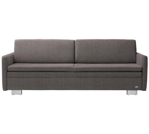 SCHLAFSOFA in Textil Grau  - Grau, KONVENTIONELL, Textil/Metall (216/84/92cm) - Sedda