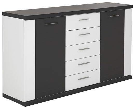 SIDEBOARD 156/90.4/41 cm - Silberfarben/Schwarz, Design, Holzwerkstoff/Kunststoff (156/90.4/41cm) - Xora